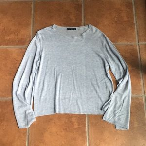Ming bell sleeve powder blue sweater size L
